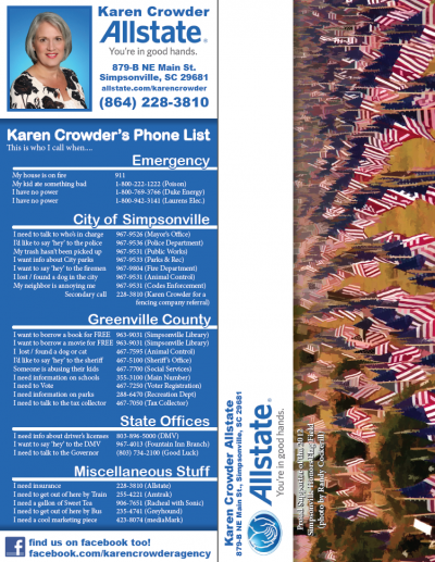 Karen Crowder Phone List